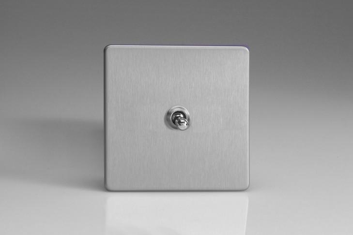 """Interrupteur Design Va et Vient à Levier """"Toggle Switch"""" (goutte d'eau) Acier Brossé"""