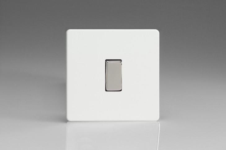 """Interrupteur Design Va et Vient à Bascule """"Rocker Switch"""" Blanc Laqué"""