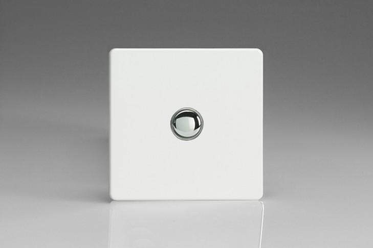 Poussoir Telerupteur Design Blanc Laqué