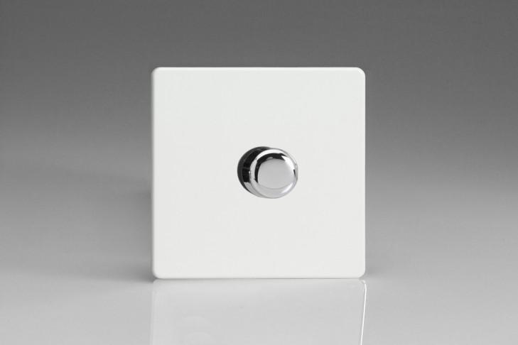 Variateur Rotatif 60-400W Design Blanc Laqué