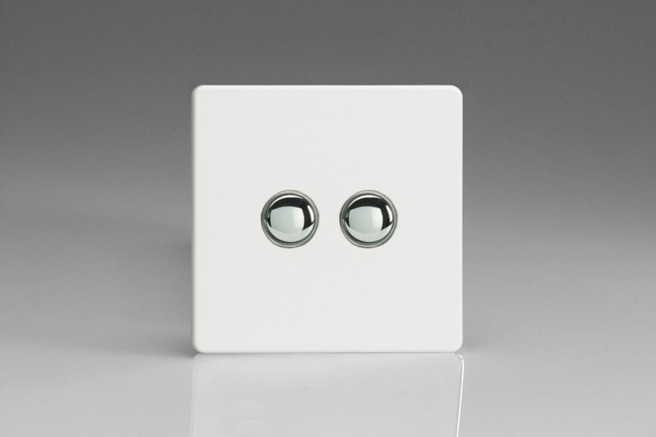 Interrupteur V&V Push Switch + BP Telerupteur Blanc Mat