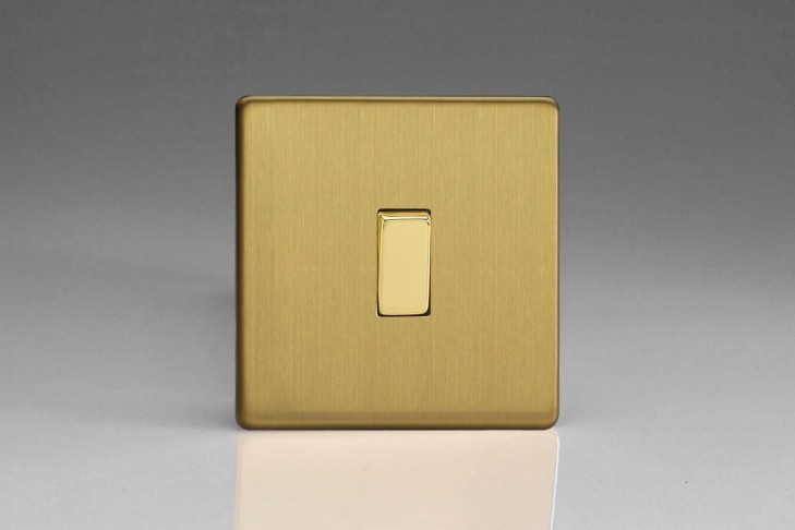 "Permutateur Design Laiton Brossé ""Intermediaire Rocker Switch"""