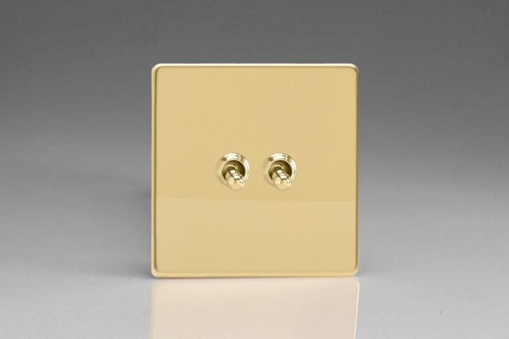 Double Interrupteur V&V Toggle Switch Laiton Miroir