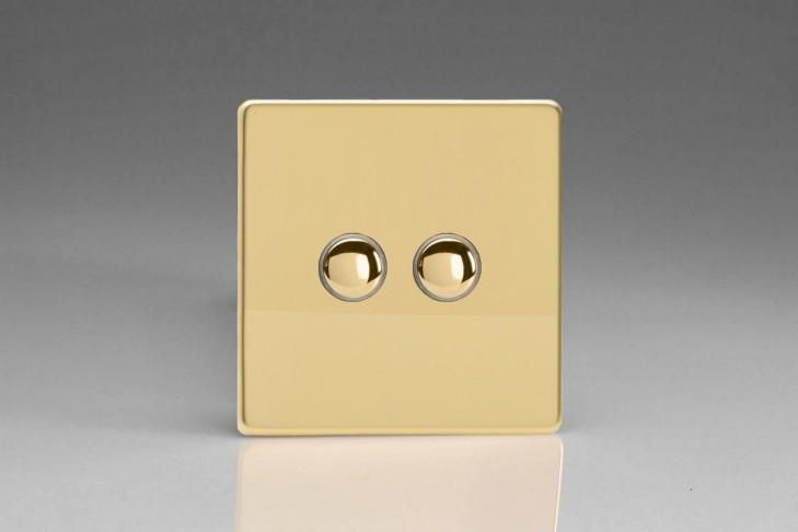 Double Interrupteur V&V Push Switch Laiton Miroir