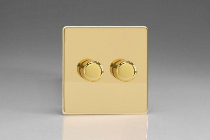 Double Variateur Rotatif 40-250W Design Laiton Miroir
