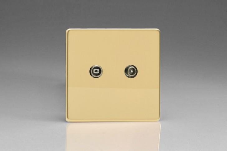 Prise TV/FM Design Laiton Miroir