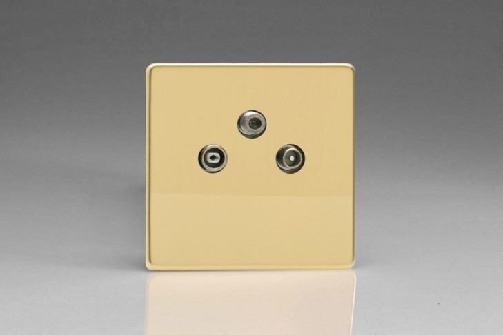Prise TV/FM/SAT Design Laiton Miroir