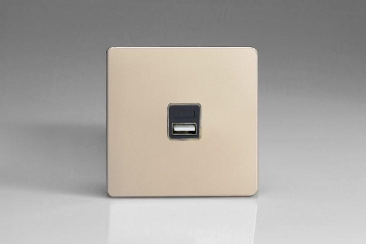 Prise USB Design 1 Port Satin