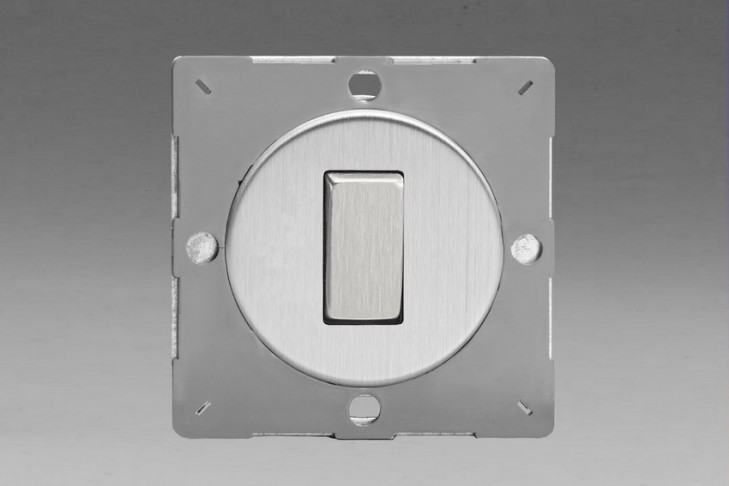 Module Interrupteur V&V Rocker Switch Acier Brossé