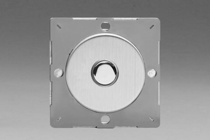 Module Interrupteur V&V Push Switch Acier Brossé