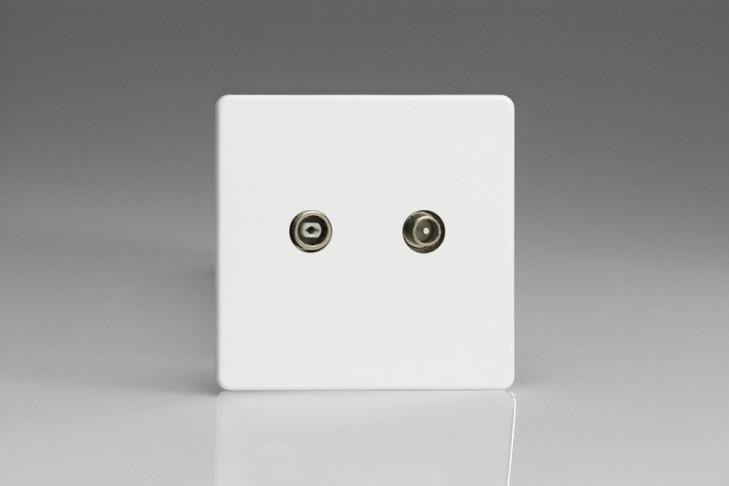 Prise TV/FM Design Blanc Mat
