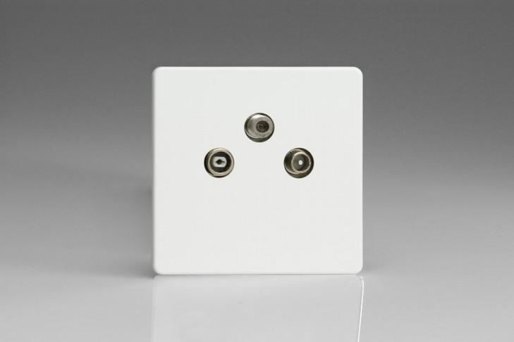 Prise TV/FM/SAT Design Blanc Mat