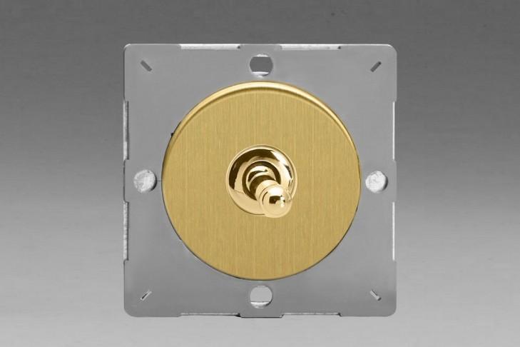 Module Interrupteur V&V Toggle Switch Laiton Brossé