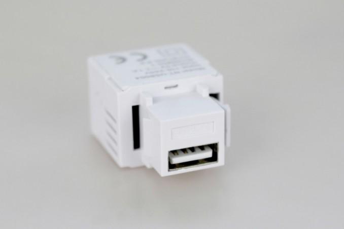 Module USB 2.1A Blanc