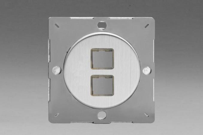 Module Data pour USB 2 Ports Acier Brossé