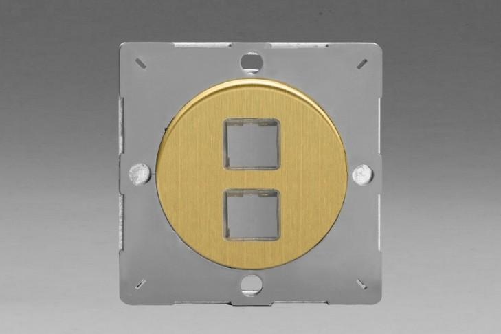 Module Data pour USB 2 Ports Laiton Brosse