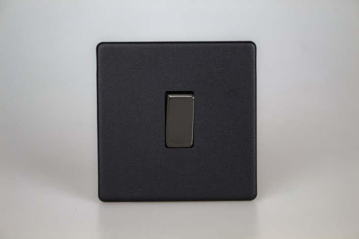 Interrupteur Design V&V Rocker Switch Noir Mat