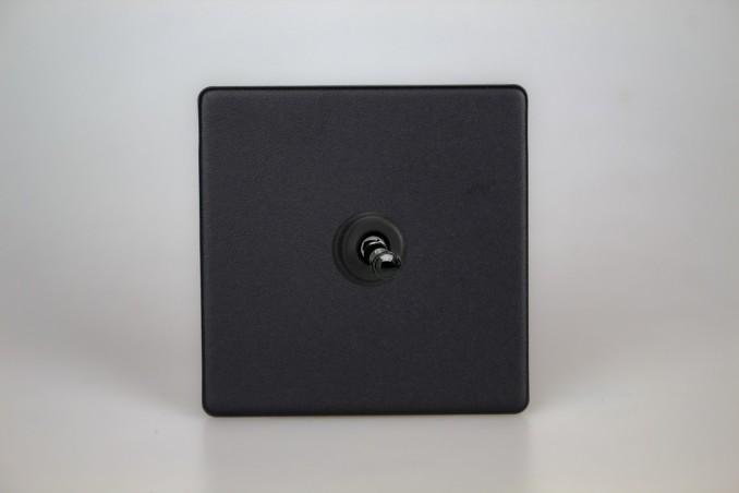 Interrupteur Design V&V Toggle Switch Noir Mat