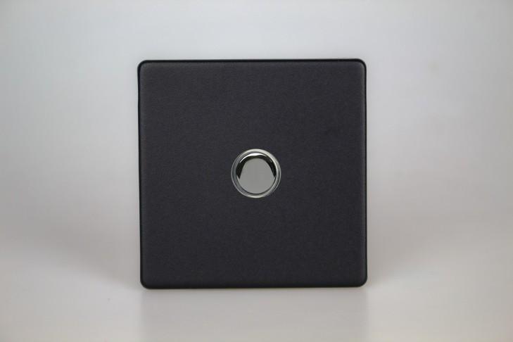 Interrupteur V&V Push Switch Noir Mat