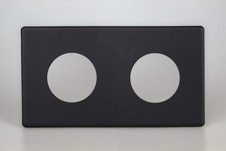 Plaque Composable Double Noir Mat