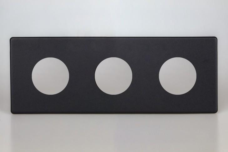 Plaque Composable Triple Noir Mat
