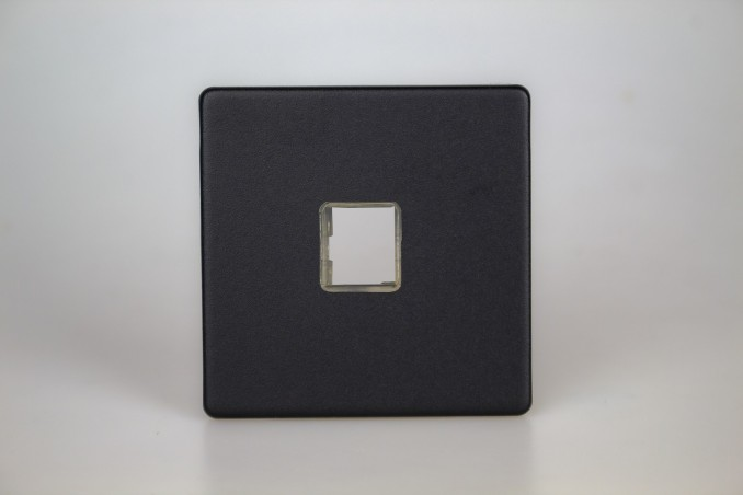 Plaque Data RJ12, RJ45 ou USB 1 port Design Noir Mat