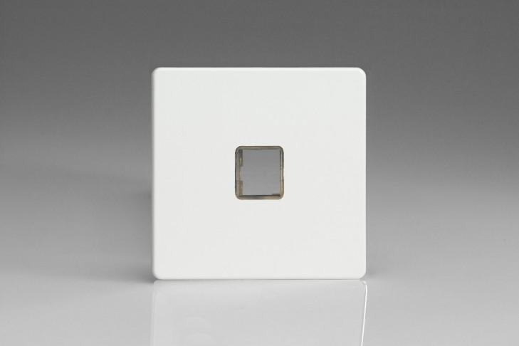 Plaque Data 1 Port pour Prise RJ12, RJ45 ou USB Design Blanc Mat