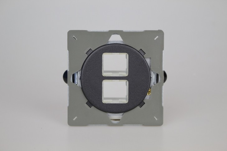 Module Data 2 Ports pour RJ12, RJ45 ou USB Noir Mat