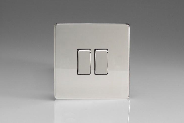 Double Interrupteur V&V Rocker Switch Chrome Miroir