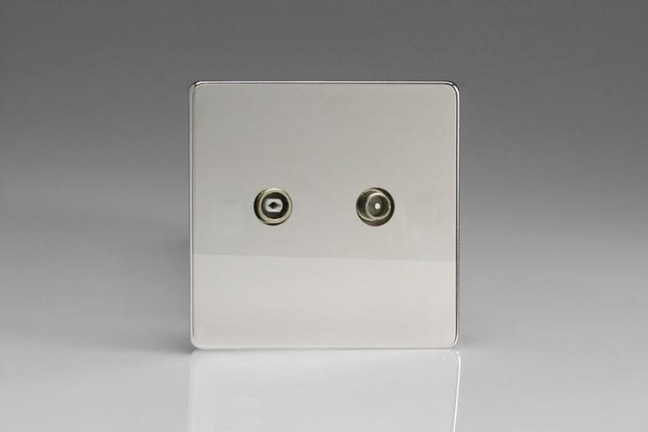 Prise Antenne / TV Design Chrome Miroir