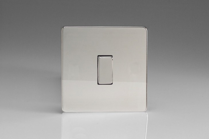 "Interrupteur Design Va et Vient à Bascule ""Rocker Switch"" Chrome Miroir"