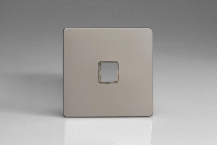 Plaque Data 1 Port pour Prise RJ12, RJ45 ou USB Design Satin