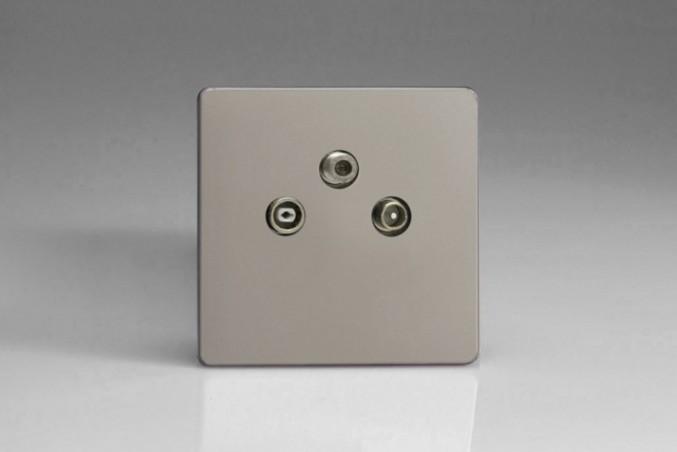 Prise Antenne / TV / SAT Design Satin