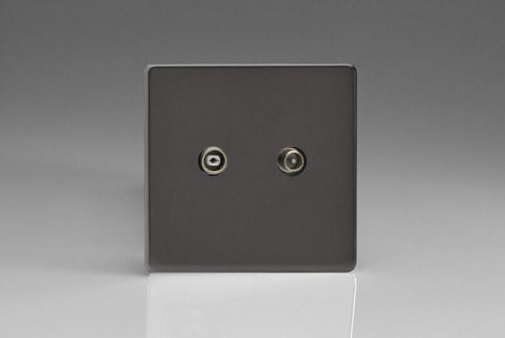 Prise Antenne / TV Design Étain