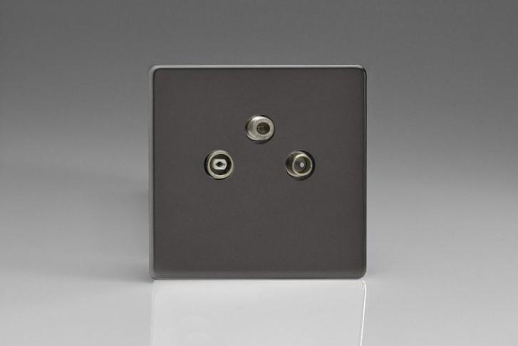 Prise Antenne / TV / SAT Design Étain
