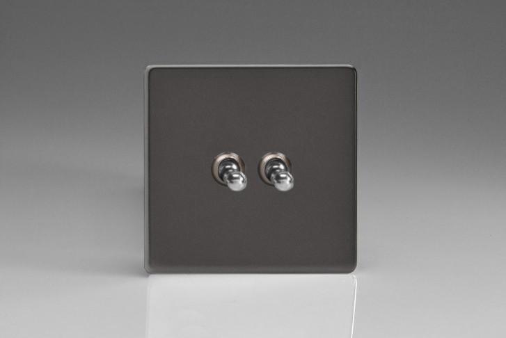 Double Interrupteur Design Va et Vient à Levier Toggle Switch Étain