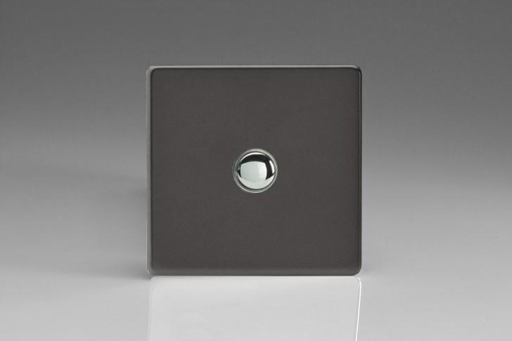 Interrupteur Bouton Poussoir Design Va et Vient Étain