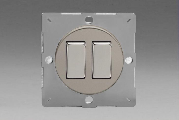 Module Double Interrupteur V&V Rocker Switch Satin
