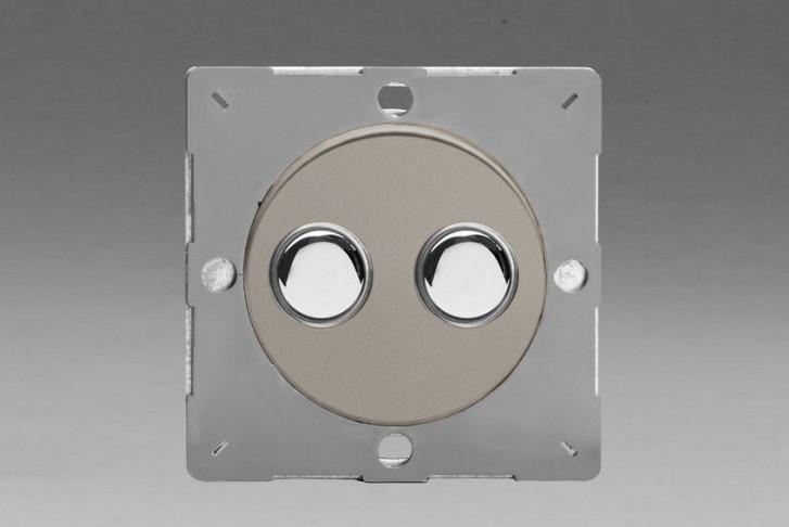 Module Double Interrupteur V&V Push Switch Satin