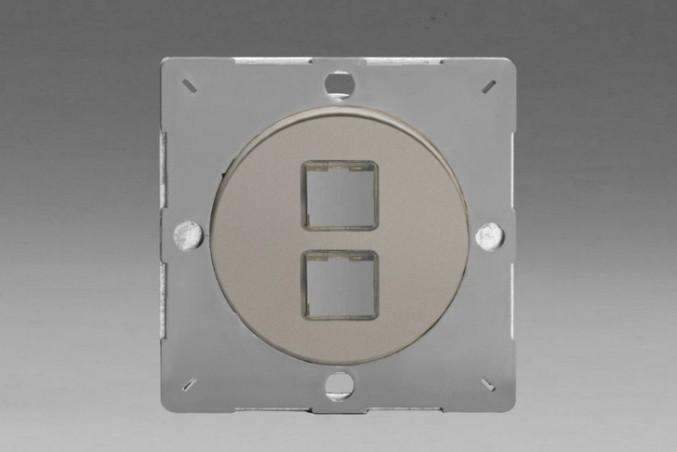 Module Data 2 Ports pour USB RJ45 ou RJ12 Satin